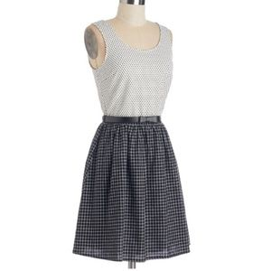 Black and White checked Dress from Modcloth